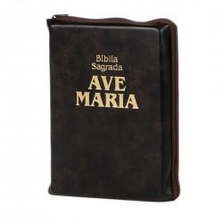 Bíblia Ave Maria Bolso com...